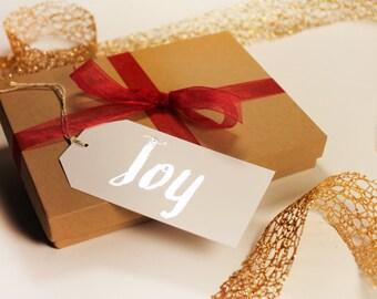 Holiday Gift Tags- Set of 12- Joy