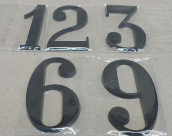 """Large 3"""" Black Plastic Numbers for Large Face Clock, 3, 6, 9, and 12 in set"""