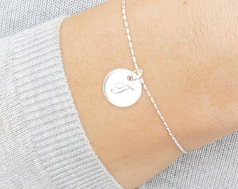 Lina Personalised Contemporary Disc Bracelet
