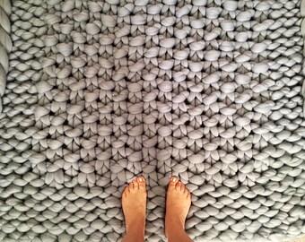 Rug, Chunky Knit Carpet, Merino Wool Rug, Giant knit carpet, Knitted Carpet, Super Chunky Rug, Area Rug, Giant Knit Rug