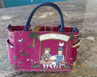 cotton handbag and shoulder handbag