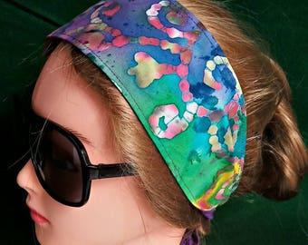 Handmade batik print headband