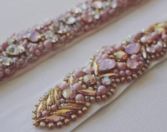Bridal Belt. Pink Princess. Belt. Bride.