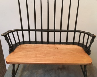 Miniature Sack back Windsor bench seat