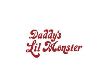 Daddy's Little Monster, Suicide Squad, Vinyl Decal, Harley Quinn, Joker, Deadshot
