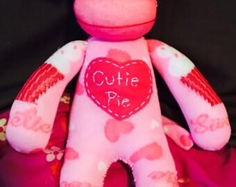 Plush Sock Monkey Cutie pie Cupcake
