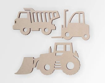 Wooden Constuction Cutouts (3 Pack)   Construction Theme   Cutout, Home Decor, Unfinished and Available from 12 to 42 Inches Tall