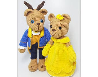 crochet pattern amigurumi Beauty and the Beast