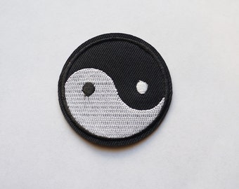 3 Inches Tai Ji Yin Yang Embroidered Iron on Patch Chinese Symbol ZEN DIY Big Size