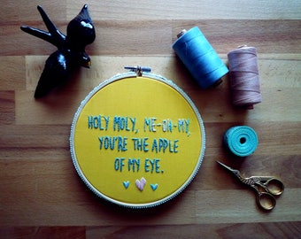 Holy Moly Me-Oh-My, Embroidery Art