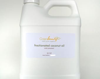 COCONUT OIL FRACTIONATED Organic Carrier Ultra Refined 100% Pure 32 oz