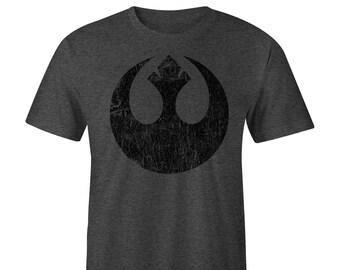 Star Wars Rebel Symbol T-shirt, Star Wars T-shirt , Star Wars Tee, Rogue One, Blacked out Tee,  Star Wars Rebels, Star Wars T-shirts