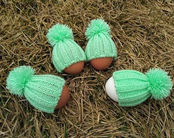 Easter decoration easter gifts egg cozy egg warmers knit egg set of 4 easter egg cozies mint green easter gifts farmhouse decor kitchen decor home decor negle Gallery