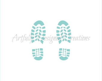 Boot Prints Stencil By Artfully Designed Creations