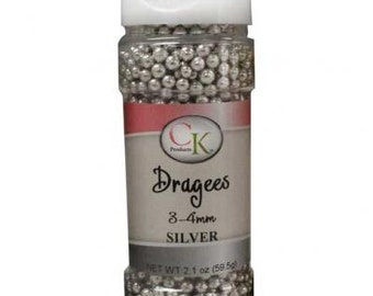 Dragees Silver - 2.1 oz
