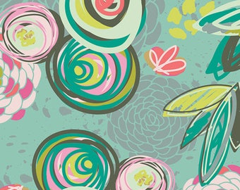 Art Gallery Fabric - Caroline Hulse Fabric - Chalk Paint Fabric - Floral Fabric - Sprayed Blooms Bright fabric - Fabric by the yard - Cotton