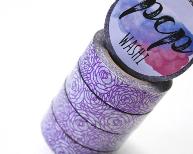 Washi Tape - Purple Rose Foil Washi Tape - Foil Washi Tape - Paper Tape - Planner Washi Tape - Washi - Decorative Tape - Deco Paper Tape