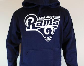 Los Angeles Rams Football Hoodie Navy Sweatshirt Mens LA