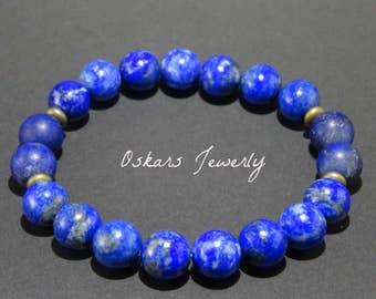 Lapis Lazuli Bracelet Lapis Bracelet Gemstone Bracelet Lapi Lazuli Jewelry Lapis Stone Bracelet Jeweiry For Him Crystal Bracelet Healing