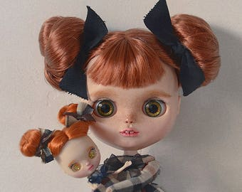 Custom Blythe OOAK Daisy with mini Me version