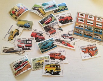 Worldwide cars and trucks stamps/ Used stamps lot