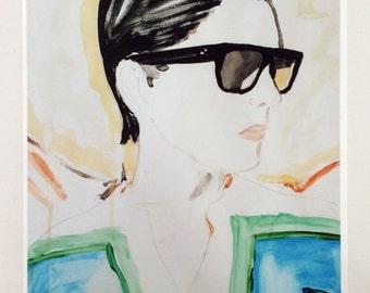 Celine sunglasses advert fashion illustration print