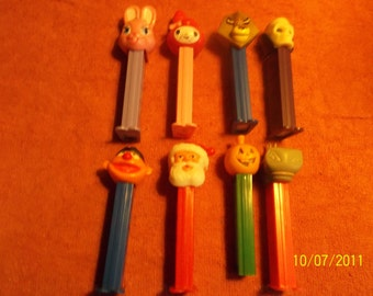 pez candy containers  lot of 8