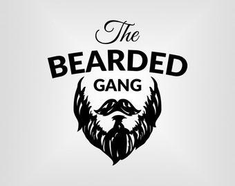 Beard Gang Svg, Beard Swag, T-shirt Graphic Svg, Cutout, Vector art, Cricut, Silhouette Cameo, die cut, Digital Cut, Print Files, Svg Files