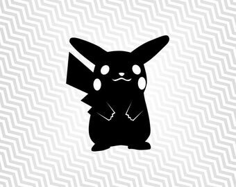 Pikachu, Pokemon, Outline, Cutout, Vector art, Cricut, Silhouette Cameo, die cut, instant download, Digital Cut, Print Files, Ai, Pdf, Svg