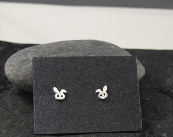 silver earrings, silver studs, bunny rabbit earrings, stirling silver earrings, bunny earrings, rabbit earrings, girls birthday gifts,