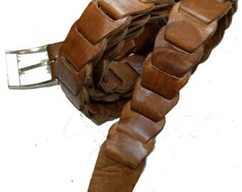 Man leather belt