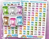 49 Cute Wheelie Bin/Trash/Garbage/Rubbish Planner Stickers, Filofax, Happy Planner, Erin Condren, Kawaii, Cute Sticker, UK