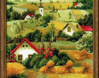 "Counted Cross Stitch Kit ""RIOLIS"" - ""Serbian Landscape"""