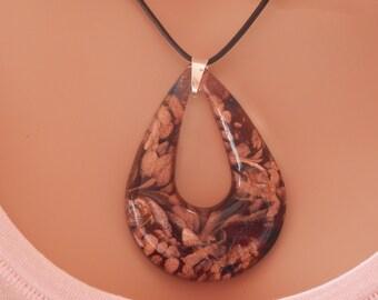 heady glass pendant necklace trippy glass pendant hand blown glass pendant glass pendant heady boho necklace long glass necklace leather