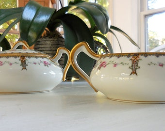 Haviland Limoges Creamer and Sugar Bowl