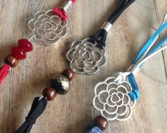 Boho Tassel Necklace, boho suede pendant, gemstone necklace, indigo eve jewellery, minimalist necklace, gift for her