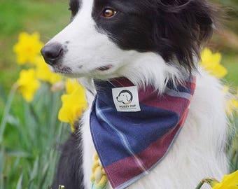 Dog neckerchief   Blue bandana   Velcro fastening   Red bandana   White bandana   Dog scarf   Check bandana    Dog gift  