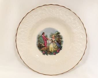 Vintage Alfred Meakin England Courting Couple Display Plate c1950's