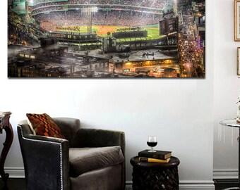 Fenway Park Drone Shot World Series Canvas Print - Large 36 x 20 Boston Red Sox