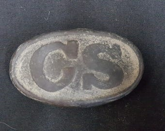 U.S.Civil War Confederate CS Small Oval Belt Buckle Reproduction