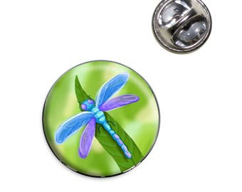 Watercolorful Dragonfly Lapel Hat Tie Pin Tack