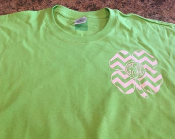 Monogram Chevron Clover tshirt.