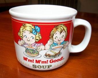 Vintage Campbell's Soup Cup! M'm! M'm! Good! Campbell Kids, Campbell Soup Company, Soup, Campbell Collectible, Tomato Soup, Westwood, 1991
