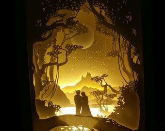 papercraft lightbox