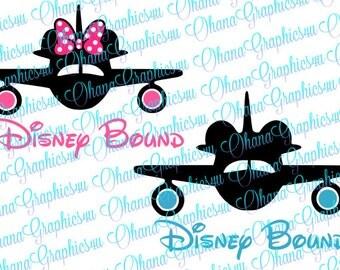 Disney Bound with Planes SVG
