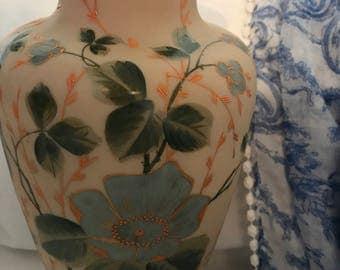 Handpainted Vase. DK Porcelain Vase.