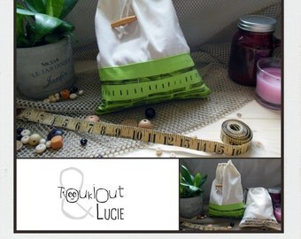 Bag backpack / green + lines