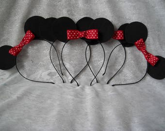 Black  Mickey Mouse Ears, Mouse Ears, Mickey Ears, Mickey Mouse, Disney Ears, Party Ears, Disney Party, Ears Headband,  Ears