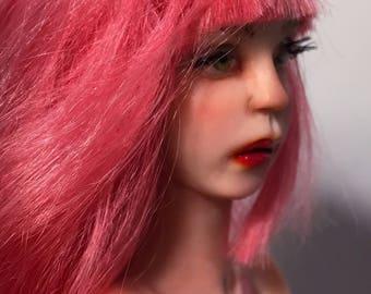 OOAK PIN UP Pink's Flower Rocker Art Doll sculpture by Bibs Lovelypam