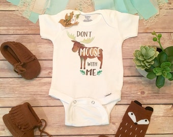 Unique Baby Gift, Moose Onesie®, Baby Boy Clothes, Funny Onesies, Woodland Baby Shower Gift, Moose Baby, Cute Baby Onesies, Canada Onesie